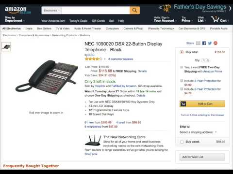 NEC 1090020 DSX 22-Button Display Telephone Price & Review