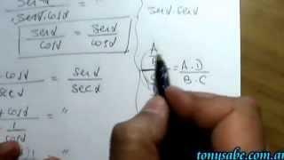 Identidades Trigonométricas - Ejercicios resueltos, desarrollo.