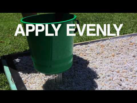 How to: Pour on Gravel Binder - YouTube