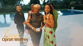 rihanna gives her mother the surprise of a lifetime the oprah winfrey show oprah winfrey network