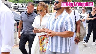Jennifer Lopez Appears Love Sick & Cant Put Her Phone Down After Ben Heads Back To US After Vacay