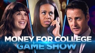 Video Money for College Game Show (with FIRST LADY MICHELLE OBAMA!) download MP3, 3GP, MP4, WEBM, AVI, FLV September 2017