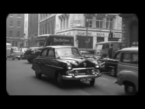 1959 - Dashcam Ride Through West End London (w/ added sound)