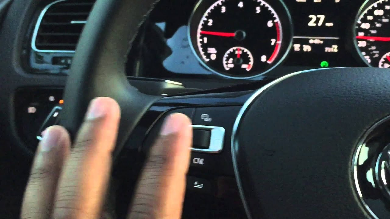 Cruise Control Tips For 2015 Jetta And Golf - YouTube