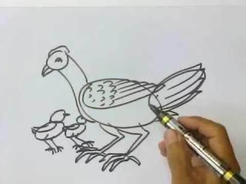 Tutorial Menggambar Hewan Kaki Dua Untuk Anak Tk Dan Sd Yang Lagi Belajar Di Rumah Youtube