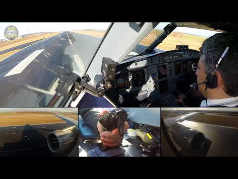 Pilot's favourite perspective: A320 TOGA Takeoff, Sundair [AirClips]