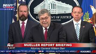 FULL: Mueller Report Released Attorney General William Barr News Conference