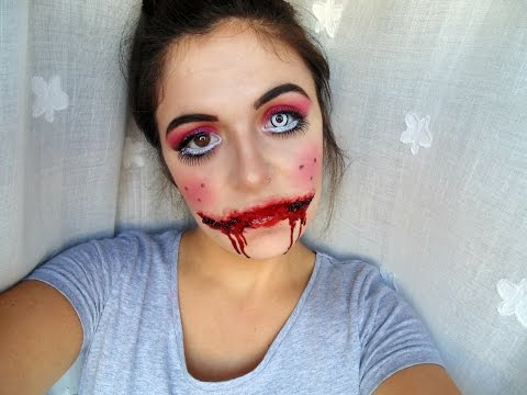 Muñeca diabólica + Chelsea Smile | HALLOWEEN MAKEUP #3 - YouTube