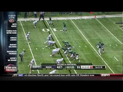 Baylor football beats Washington in the 2011 Alamo bowl