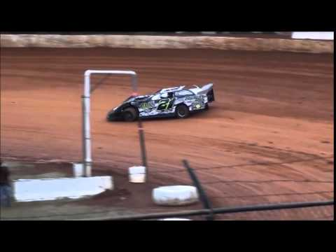 Super Late Model Heat #4 from 411 Motor Speedway 1/1/15.