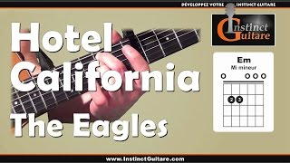 Hotel California à la guitare - The Eagles - Rythmique couplet et refrain