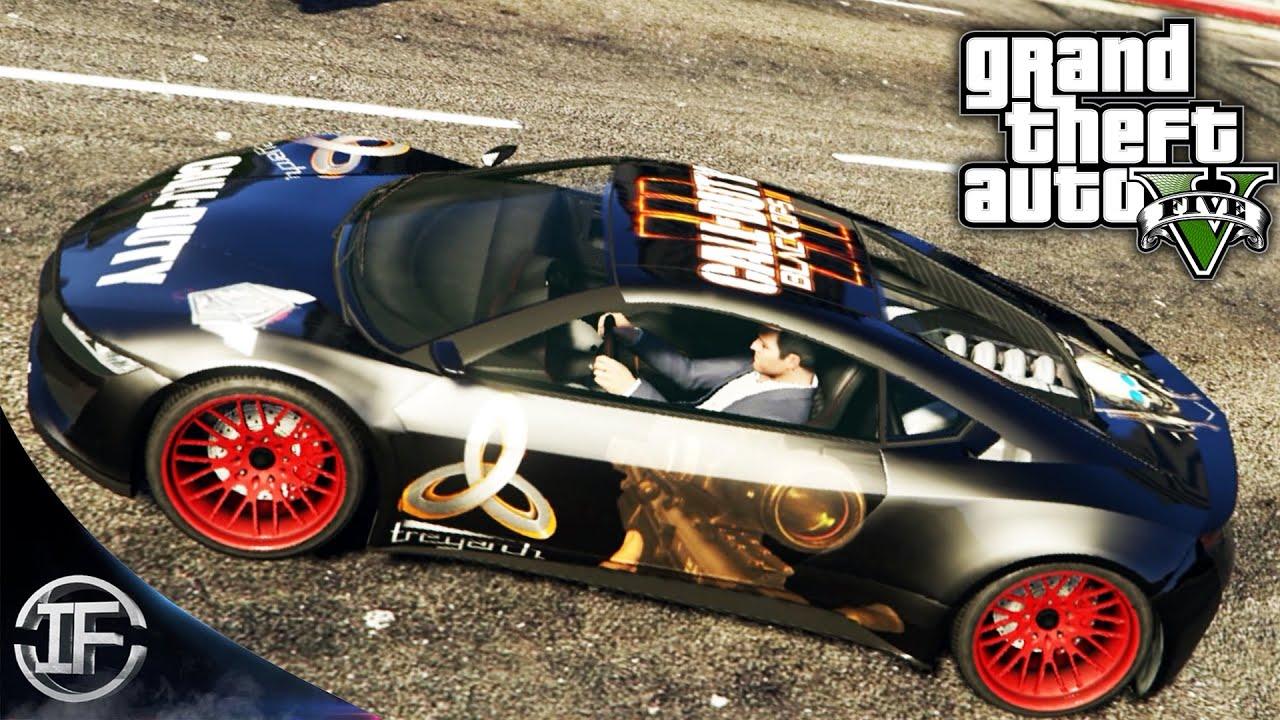 TUNEADO BLACK OPS 3 EN GTA V - MOD PINTURA OCULTA GTA 5 - Hack Grand Theft Auto V