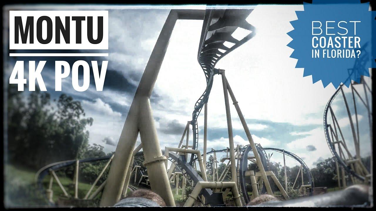 Montu Busch Gardens Tampa 4k On Ride Pov Youtube