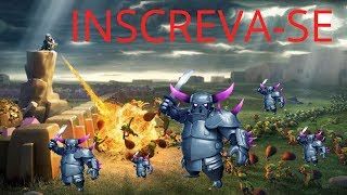 ATAQUE LIVE CV10 COM 8 PEKKAS CLASH OF CLANS