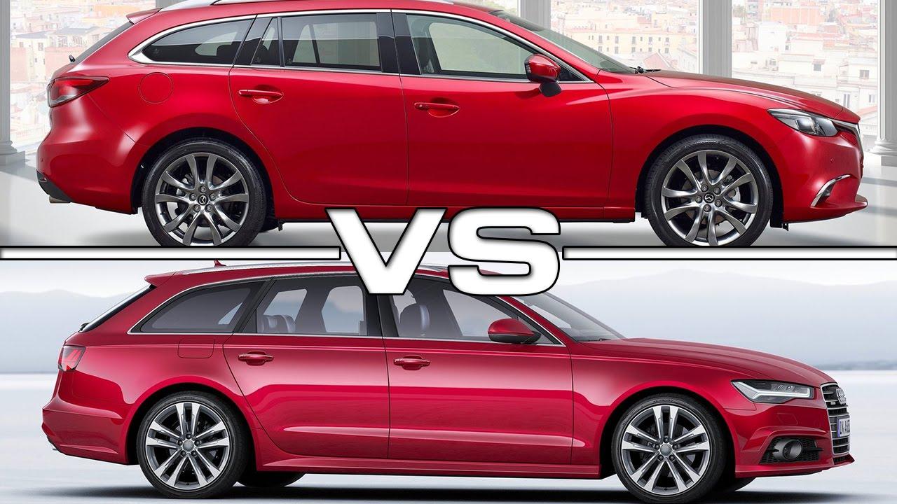 Mazda 6 Wagon vs Audi A6 Avant - YouTube
