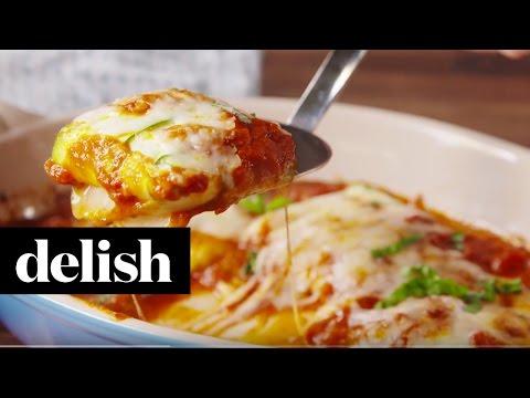 Wheat FREE Zucchini Cheese Ravioli | Delish
