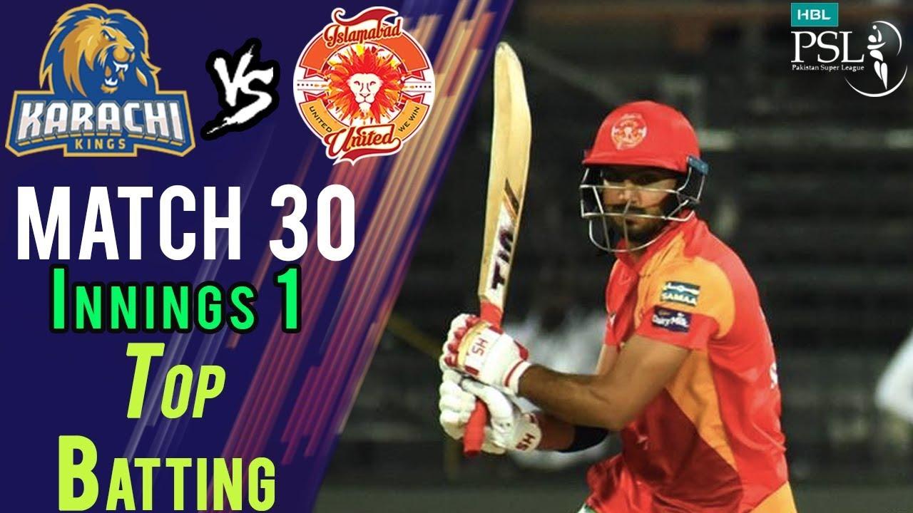 Asif Ali Batting | Karachi Kings Vs Islamabad United  | Match 30 | 16 March | HBL PSL 2018