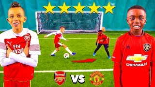 10 Year Old Kid POGBA vs 10 Year Old Kid AUBAMEYANG.. AMAZING Football Competition