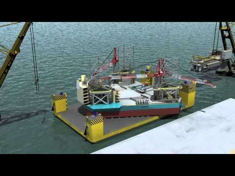 KeppelFELS | Can-do barge and CJ70 Jack-up rig animation