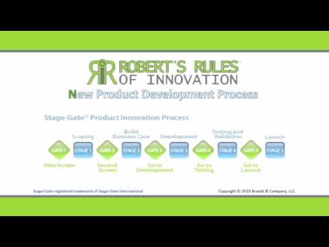 New product development process robert 39 s rules of for Innovative product development companies