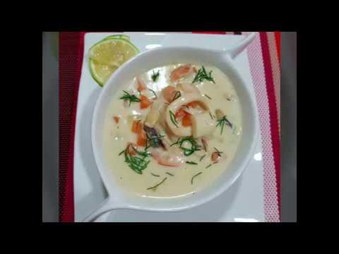 Creamy Seafood Soup شوربة السي فود بالكريمة