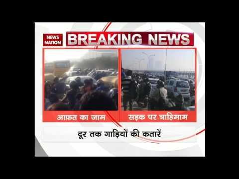 Traffic Jam in Kalindi Kunj area in New Delhi