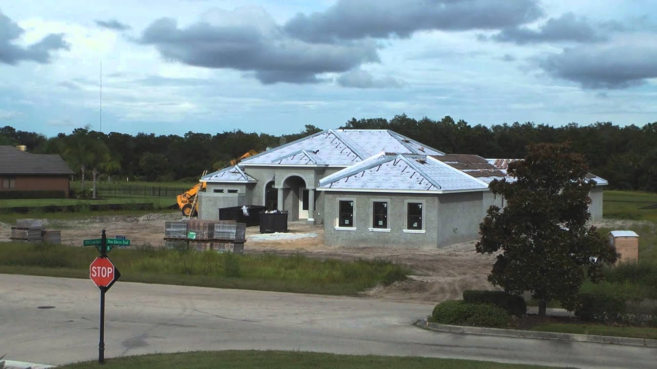 Time lapse of a house build here in florida by for Concrete homes florida