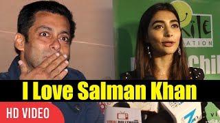 I love salman khan | pooja hegde reaction on working with salman khan | viralbollywood