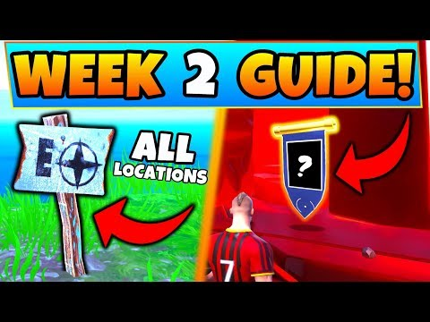 Fortnite WEEK 2 CHALLENGES GUIDE! - North, South, East Points of Island! (Battle Royale Season 8) thumbnail