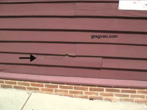 Replacement Wood Siding Tip Using Center Cut Lumber For