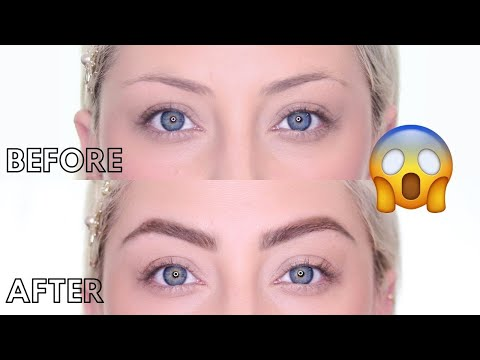 EYEBROW TUTORIAL 2019 | How to fill in Sparse or Thin Brows | Glamnanne