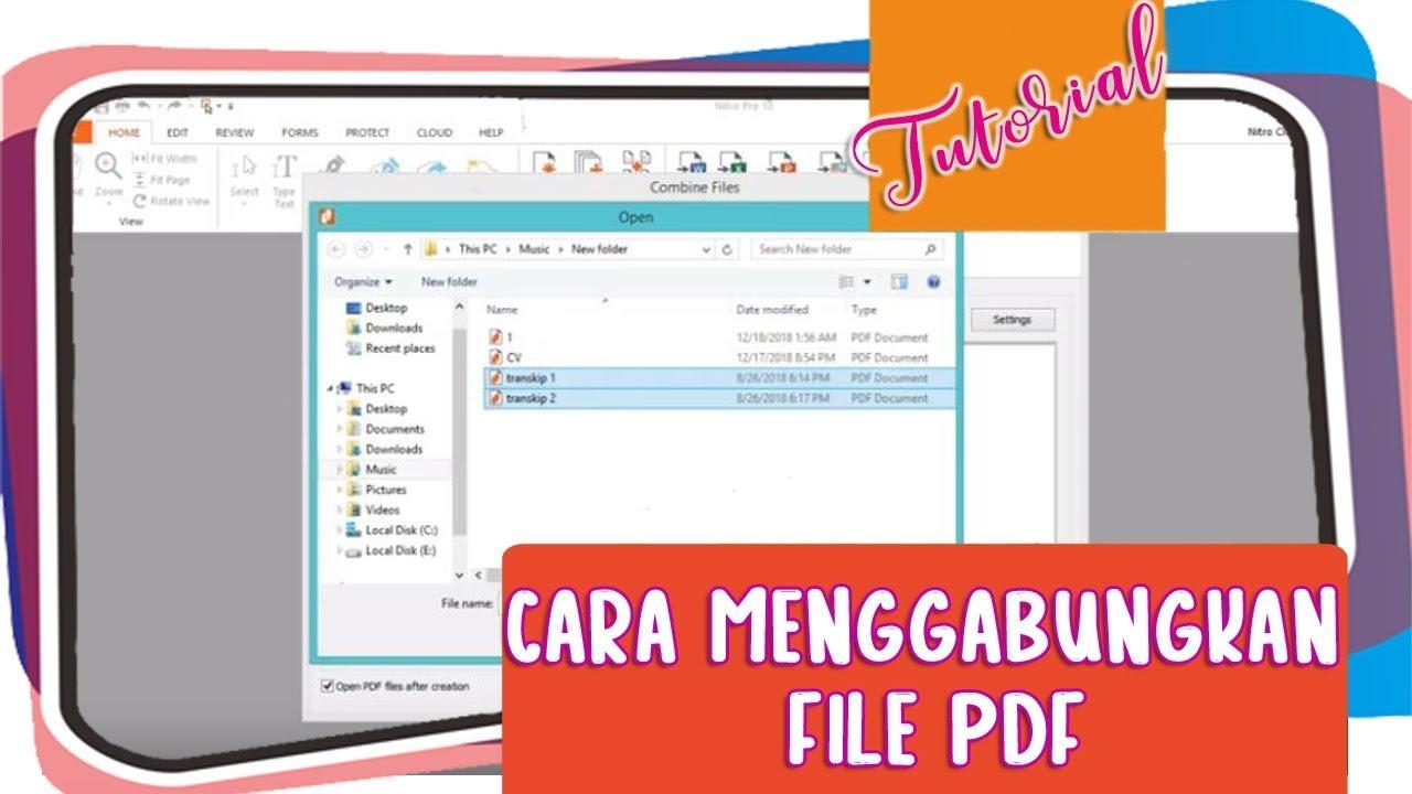Cara Menggabungkan File Pdf Youtube