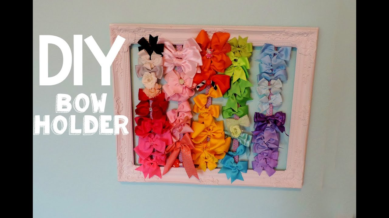DIY Bow Holder - YouTube