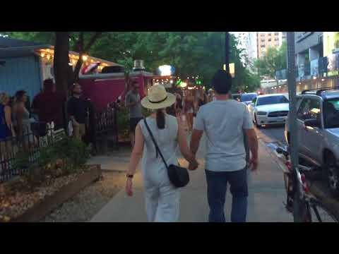 Walk down Rainey St Austin Friday evening 5/11/18
