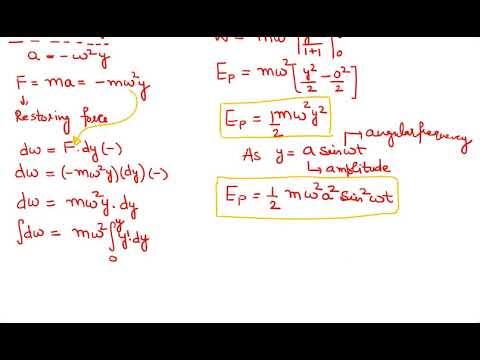 06 KE, PE & Total Energy in SHM Oscillations 10+1 Physics