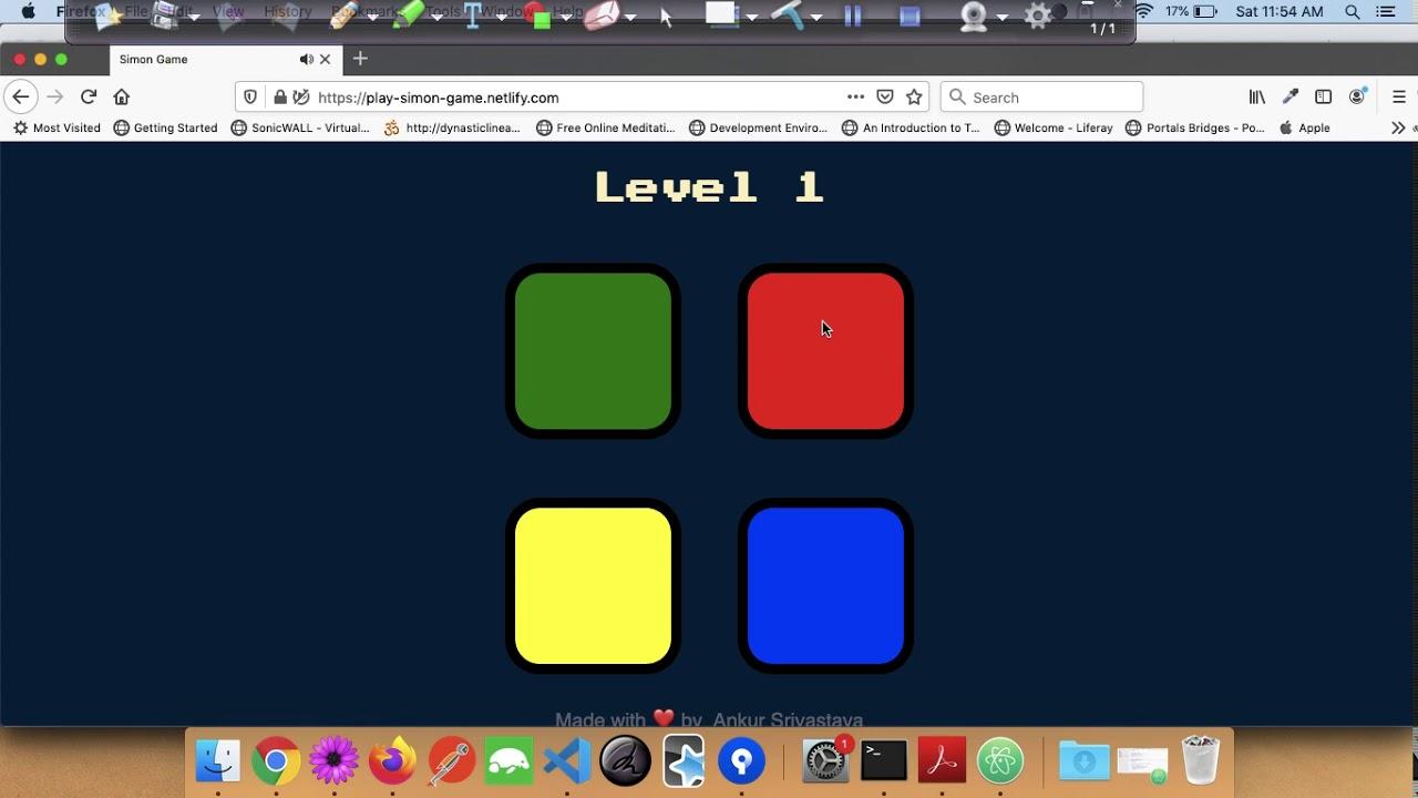 Play Simon Game English Youtube