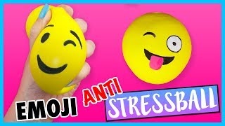 DIY EMOJI STRESS BALL 😜 How to make FUN Stress Ball for BACK 2 SCHOOL!