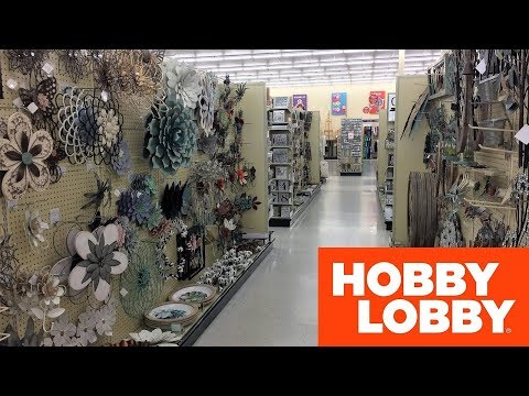 HOBBY LOBBY SPRING 2019 HOME DECOR METAL WALL ART SHOP WITH ME SHOPPING STORE WALK THROUGH 4K