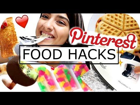 PINTEREST Food Hacks - LIVE TEST - Pizza Waffel   EIS Selbermachen   DIY SNACKS   Sanny Kaur