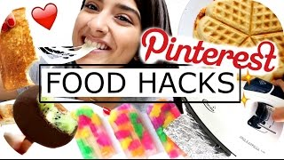 PINTEREST Food Hacks - LIVE TEST - Pizza Waffel | EIS Selbermachen | DIY SNACKS | Sanny Kaur