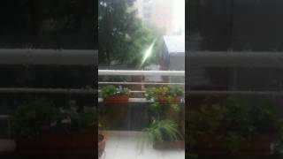 Video: Imágenes de la lluvia de hoy en Salta