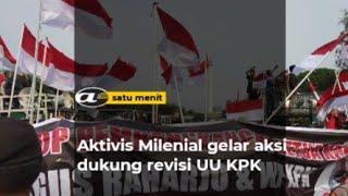 Aktivis milenial gelar aksi dukung revisi UU KPK