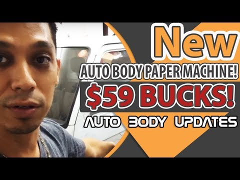 New Auto Body Paper Machine! $59 BUCKS! - Auto Body Updates