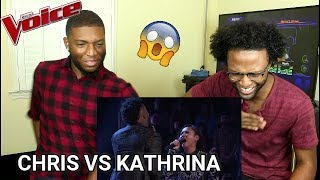 The Voice 2017 Battle Chris Weaver Vs Kathrina Feigh 34 Dangerous Woman 34 Reaction