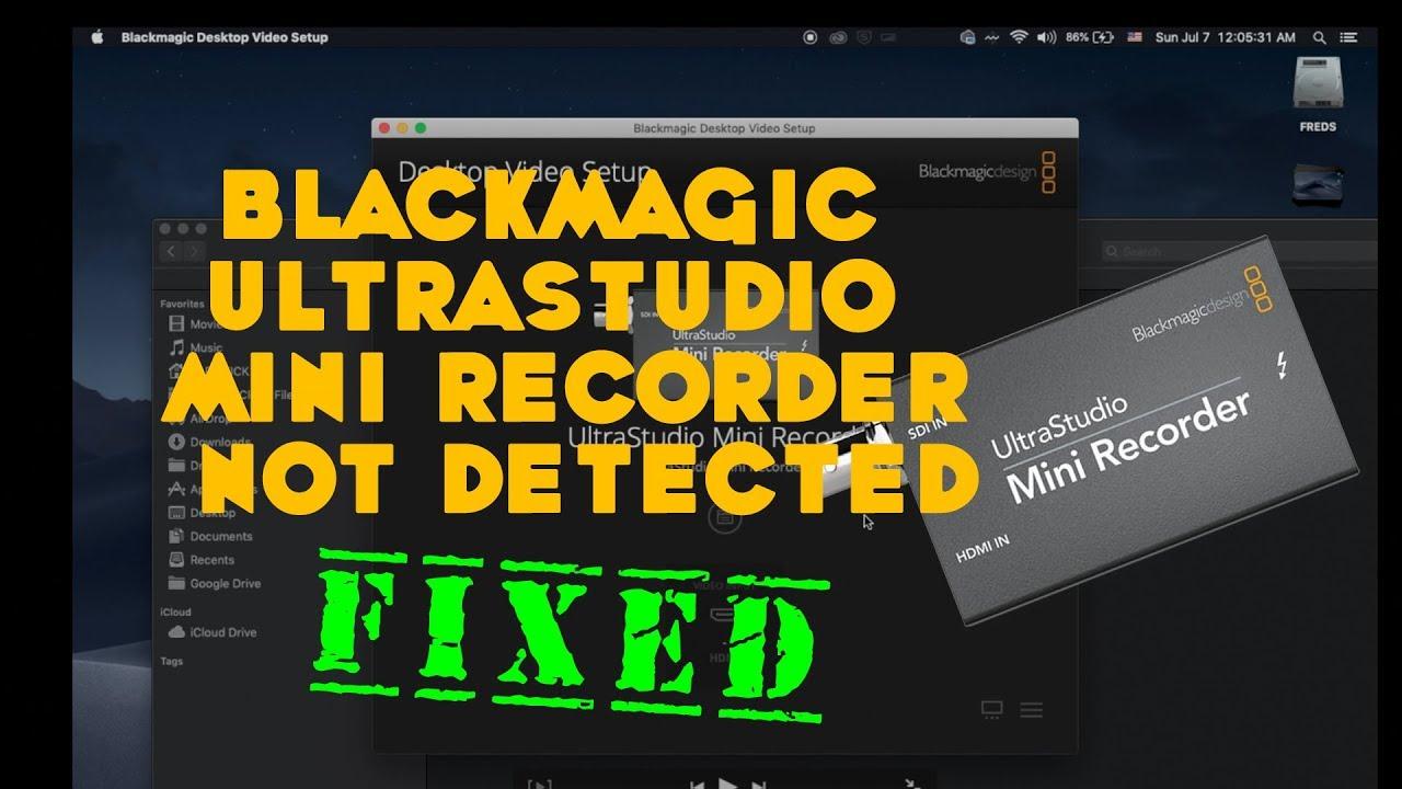 Blackmagic Ultrastudio Mini Recorder Not Detected Fixed Youtube