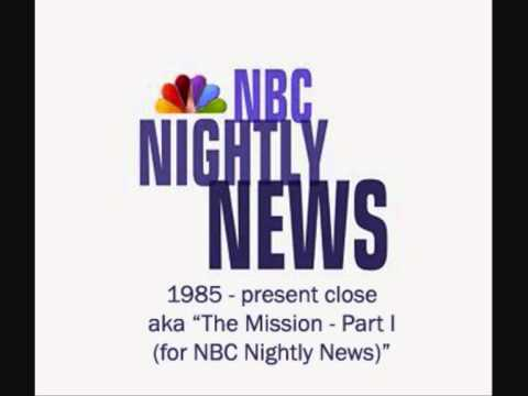 NBC Nightly News theme music close - aka The Mission Part I by John Williams