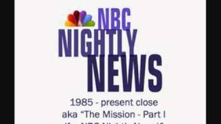 NBC Nightly News theme music close - aka The Mission Part I by John Williams