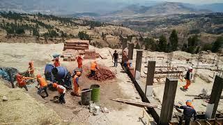 Peru QuinuaQ ecolodge Peru adobe wall construction