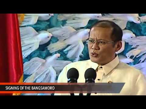 President Aquino at the Signing of the Bangsamoro