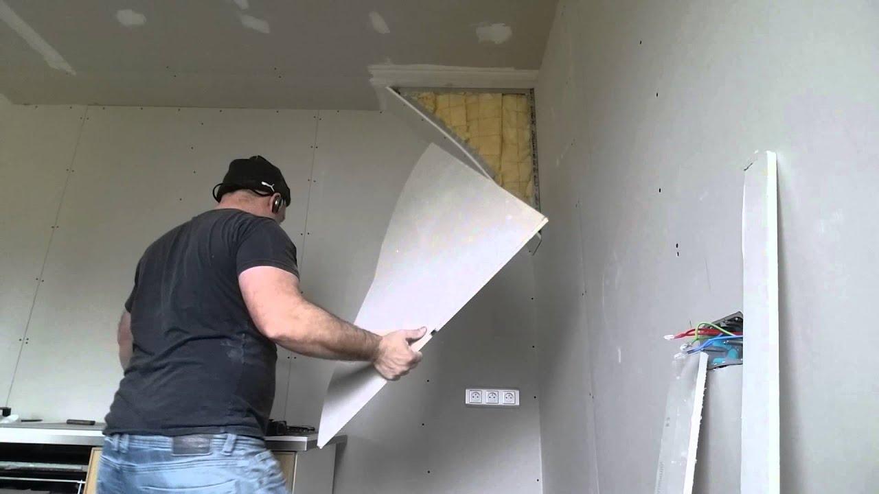 faire un coffre arrondi placo facilement pour cacher la misere